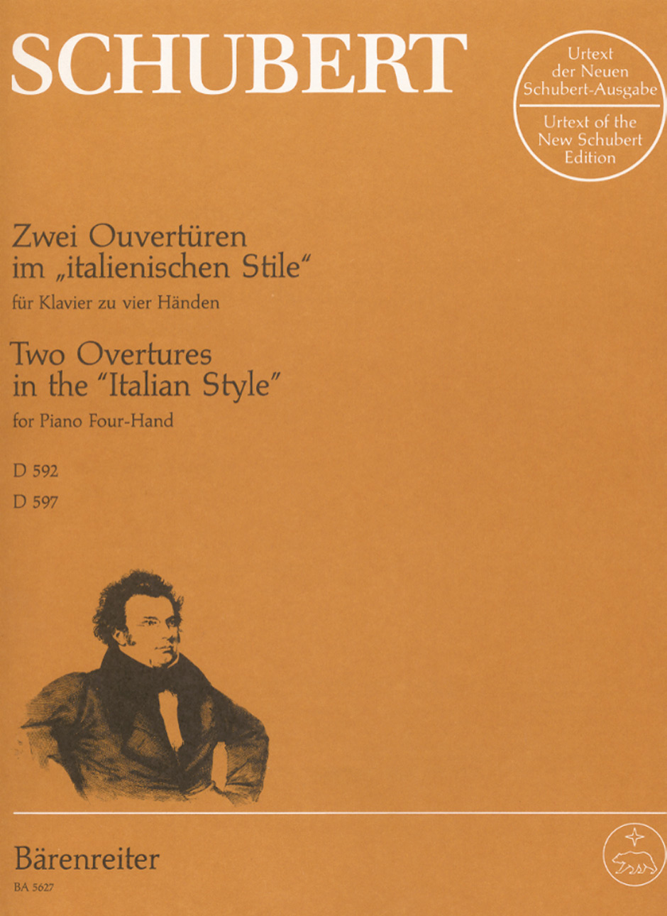 Two overtures in the 'Italian Style', D 592 & D 597 image